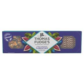 Thomas.J.Fudge's mouthwatering milk chocolate Florentine