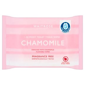 Waitrose fragrance-free moist toilet tissue refill pack, 42 sheets