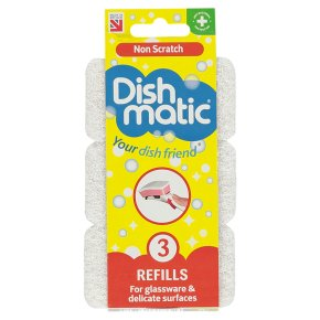 Dishmatic non scratch refills pack of 3