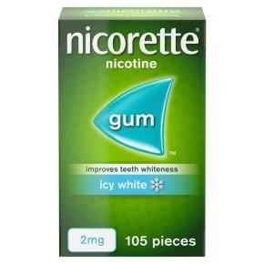 Nicorette icy white chewing gum, 2mg