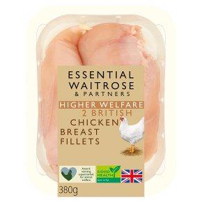 essential Waitrose British Chicken 2 Breast Fillets