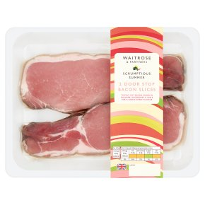 Waitrose 2 Door Stop Bacon Slices