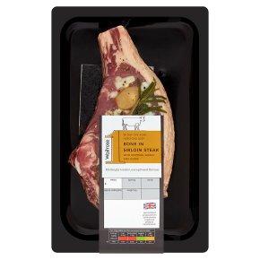 Waitrose 1 Hereford Beef Bone in Sirloin Steak