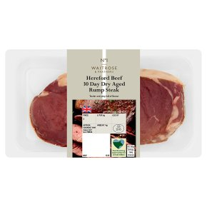 Waitrose 1 Hereford 30 day dry aged beef rump steak