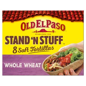 Old El Paso Stand 'N' Stuff Soft Whole Wheat Tortillas x8