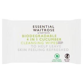 essential Waitrose 4in1 cucumber wipes