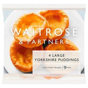 Waitrose frozen 4 large Yorkshire puddings