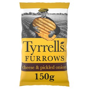 Tyrrells Furrows mature Cheddar and pickled onion