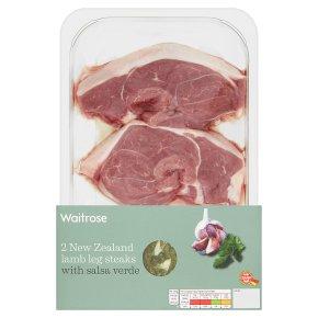 Waitrose New Zealand Lamb Leg Steaks with Salsa Verde