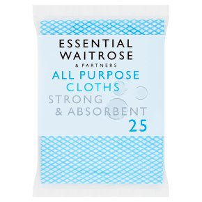 essential Waitrose All Purpose Household Cloths