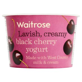 Waitrose black cherry yogurt