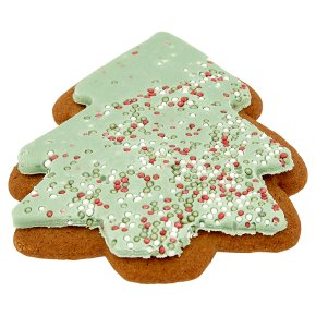 Iced Tree Gingerbread Biscuit