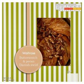 Waitrose butterscotch & pecan Danish swirl