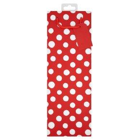essential Waitrose red spot bottle gift bag