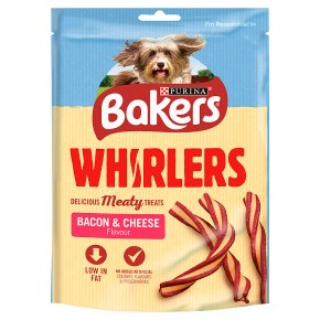 Bakers Whirlers Dog Treats Bacon and Cheese