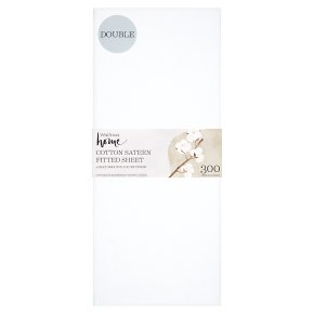 Waitrose Home Cotton Sateen Fitted Sheet