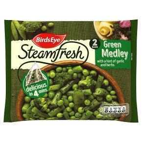 Birds Eye 2 Green medley with a hint of garlic & herbs frozen