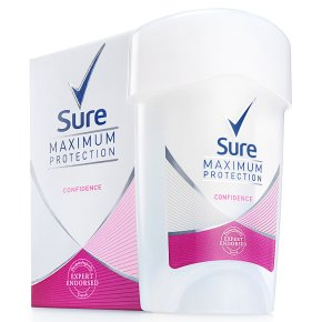 Sure Women Maximum Protection confidence cream anti-perspirant deodorant