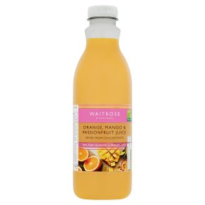 Waitrose orange, mango & passionfruit juice
