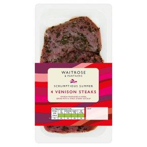 Waitrose 4 Venison Steaks