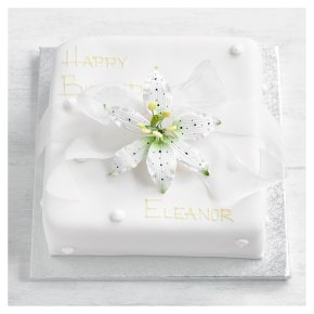 Ivory Lily Celebration Cake - Sponge