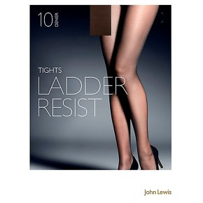 John Lewis10 denier nearly black ladder resistant tights (medium)