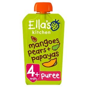 Ella's Kitchen Organic mangoes pears + papayas - stage 1 baby food