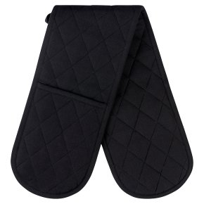 essential Waitrose Black Double Oven Glove