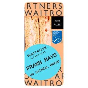 Waitrose deep fill prawn mayo sandwich