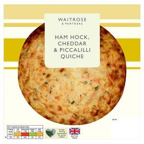 Waitrose Ham Hock Chddr Piccalilli Quiche