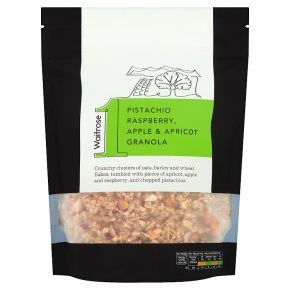 Waitrose 1 pistachio, raspberry, apple and apricot granola