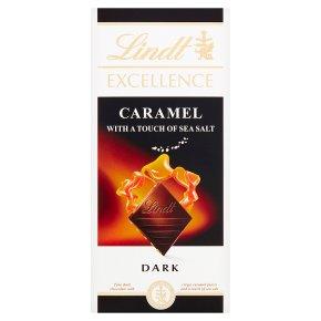Lindt Excellence dark caramel & sea salt