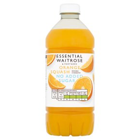 essential Waitrose orange squash