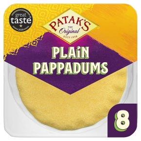 Patak's pappadums plain