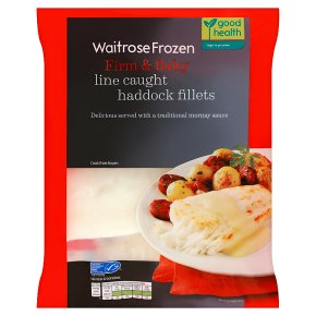 Waitrose Frozen MSC line caught haddock fillets
