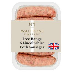 No.1 Lincolnshire Pork Sausages 6s