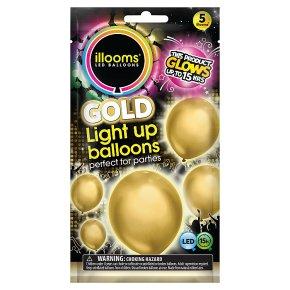 illooms Gold Light Up Balloons