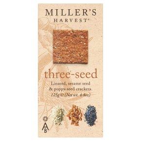 Miller's Harvest three-seed crackers