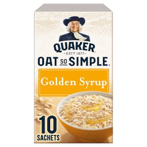 Quaker Oat So Simple golden syrup porridge cereal sachets