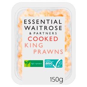 essential Waitrose cooked king prawns