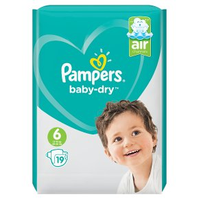 Pampers Baby Dry Size 6 Carry 19 Nappies