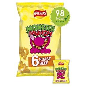 Mega Monster Munch roast beef multipack crisps