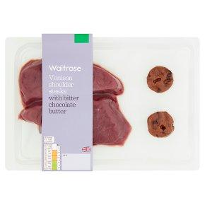 Waitrose Venison Shoulder Steaks with Chocolate Butter