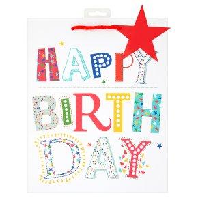 Waitrose Large Bag Happy Birthday