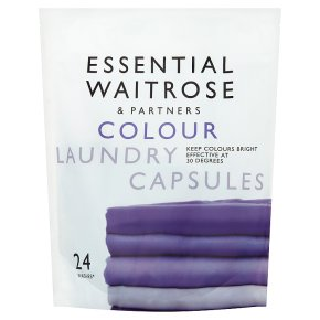 essential Waitrose Colourcare Laundry Liquid Sachets