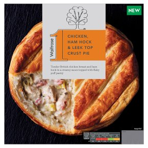 Waitrose 1 Chicken, Ham Hock & Leek Top Crust Pie