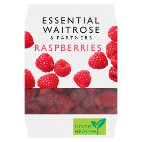 essential Waitrose frozen raspberries
