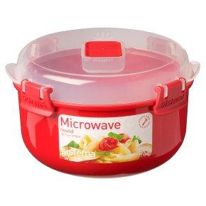 Sistema 915ml red microwave bowl