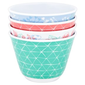 Waitrose Floral Melamine Bowls