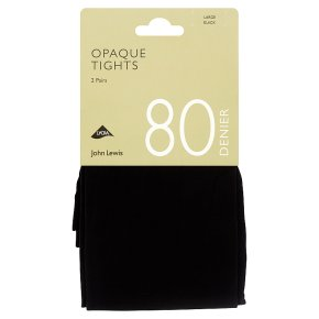 John Lewis 80D Black Tights Large